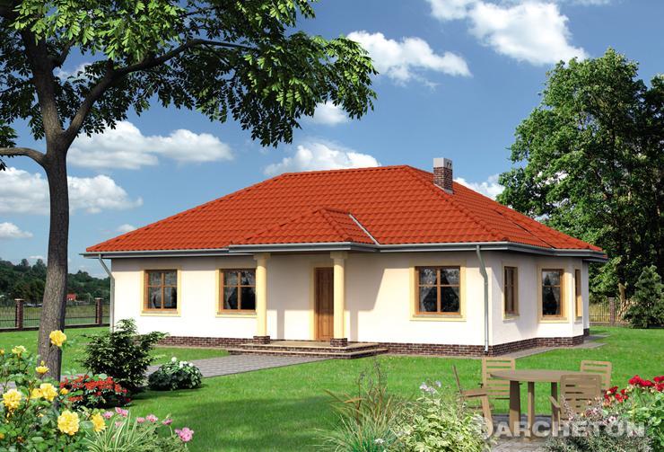 Projekt domu Karolina - obszerny dom parterowy na planie kwadratu