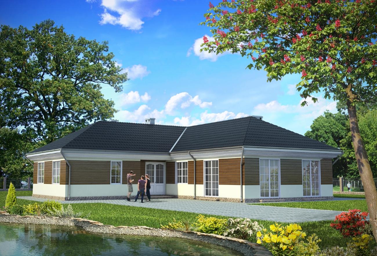 Projekt Domu Kastalia 2 Obszerny Dom W Kształcie Litery L Z Dużą