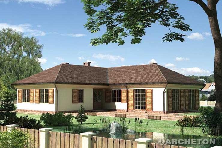 Projekt domu Kastalia-2 - duży i obszerny dom parterowy w kształcie litery L