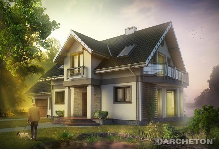 Projekt domu Klara Mobil - dom pełen wdzięku i elegancji, idealny dla 5 osobowej rodziny