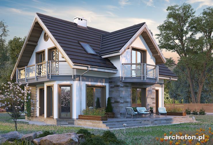 Projekt domu Klara Neo - dom z ustawnym salonem, z wydzielonym miejscem do jedzenia
