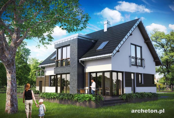 Projekt domu Klara Polo - funkcjonalny dom, w nowoczesnym stylu, z przestronnym salonem