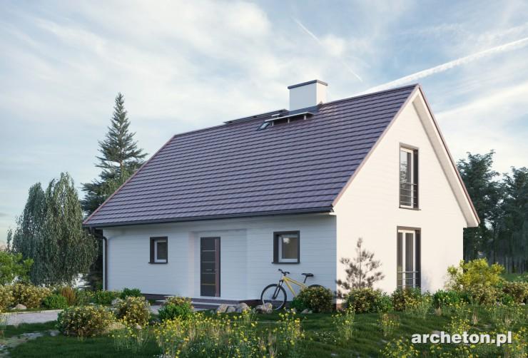 Projekt domu Kokosz Eko - energooszczędny dom z pokojem dla seniora lub gabinetem