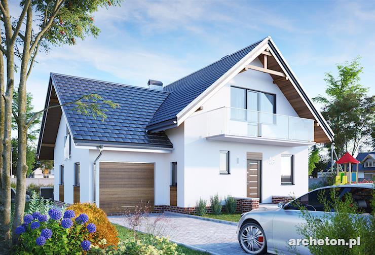 Projekt domu Koliba-2 - elegancki dom wzbogacony malowniczymi drewnianymi balkonami