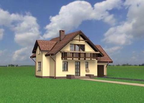 Projekt domu Koliba