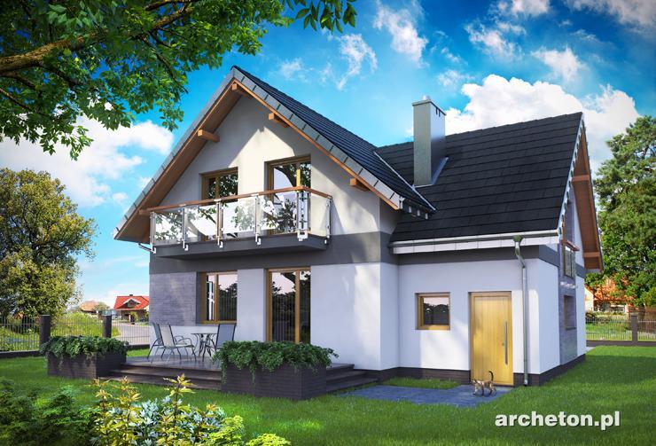 Projekt domu Koliba Astro - nowoczesny dom z wejściem od ściany szczytowej