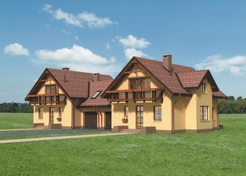Projekt domu Koliba Duo