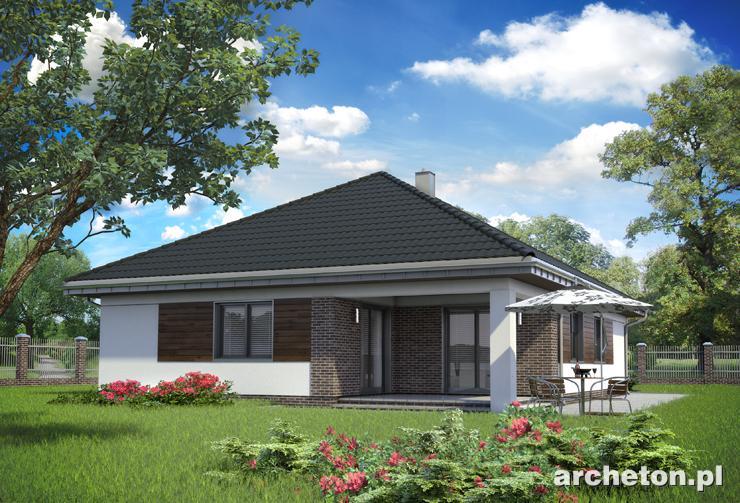 Projekt domu Koniczynka - nowoczesny dom parterowy, z garażem, pokryty dachem wielospadowym