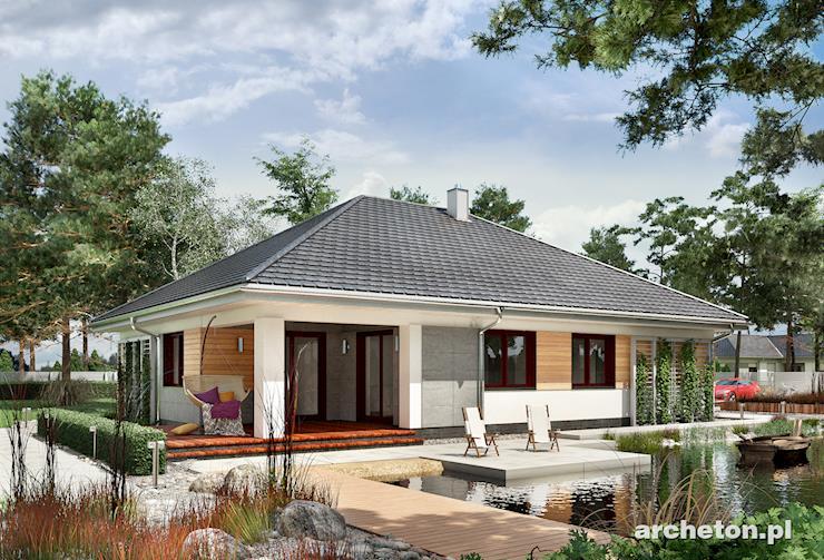 Projekt domu Koniczynka Polo G2 - funkcjonalny dom parterowy, z 5 pokojami, z garażem na 2 samochody