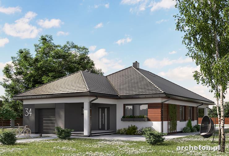 Projekt domu Koniczynka Rex - atrakcyjny dom parterowy z garażem, pokryty dachem wielospadowym