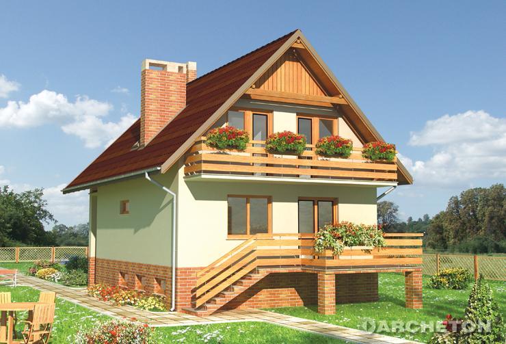 Projekt domu Koral - mały dom idealny na wąską działkę