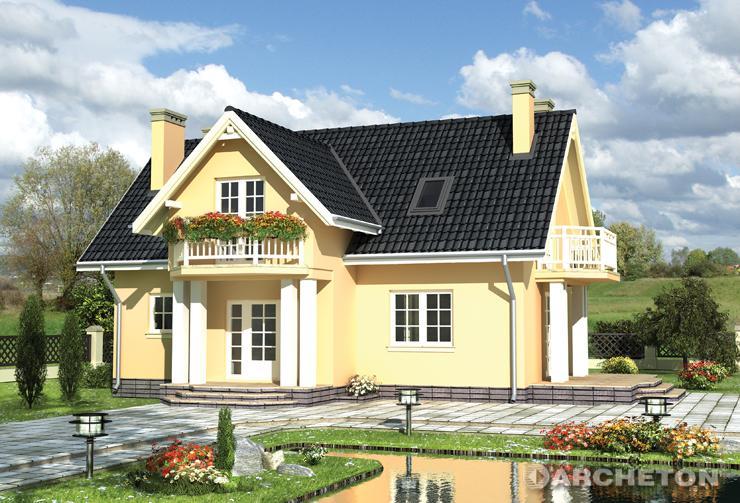 Projekt domu Kornelia - dom jednorodzinny częściowo podpiwniczony, nakryty dachem dwuspadowym