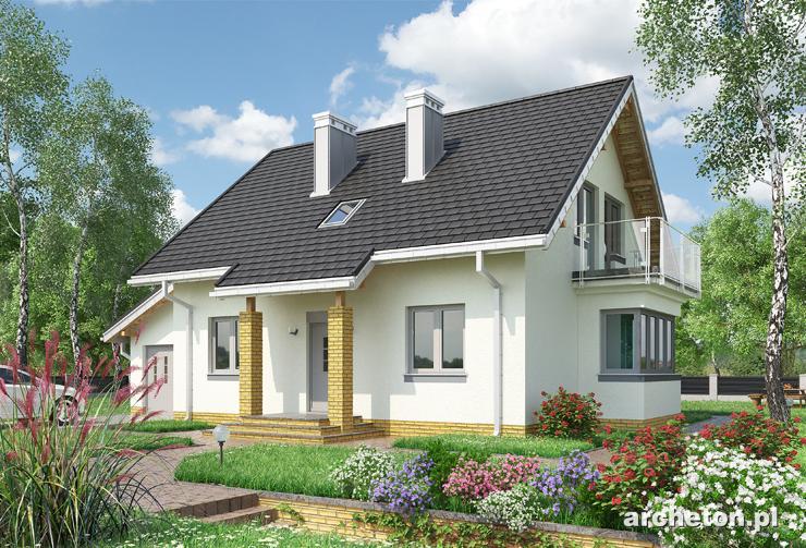 Projekt domu Kowalik - dom wzbogacony lukarną klatki schodowej