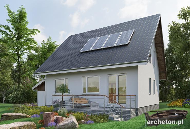 Projekt domu Krab - nieduży dom z dołączonym garażem jednostanowiskowym