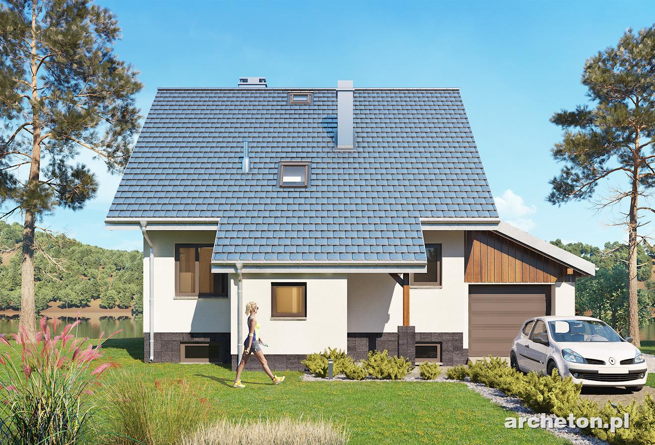 Projekt domu krab z piwnic ma y dom z dostawionym for Gartengestaltung joanna