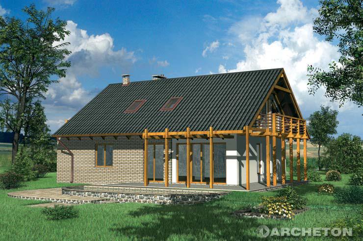 Projekt domu Krajka - prosty dom o niebanalnej stylistyce