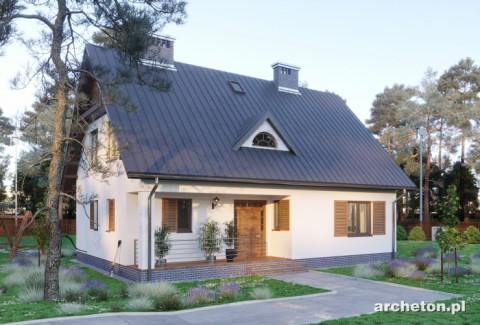 Projekt domu Krzemyk - prosty i przytulny dom z dachem o nachyleniu 45 stopni