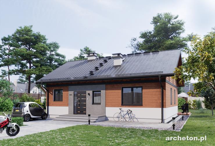 Projekt domu Kubuś - uroczy, malutki domek parterowy z 3 sypialniami