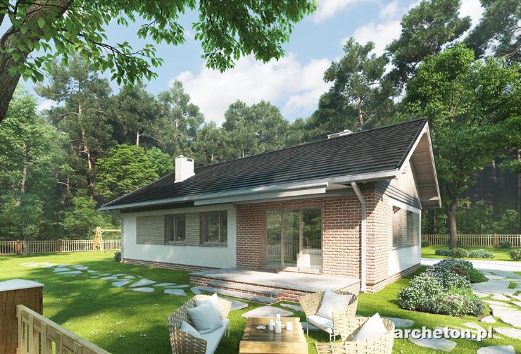 Projekt domu Kubuś G1 - zgrabny domek parterowy do 100 m2, z garażem