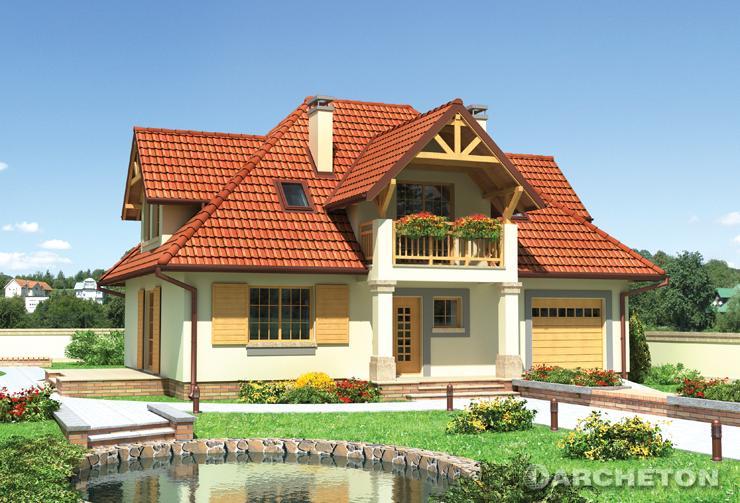 Projekt domu Kurdesz - malowniczy dom o charakterze architektury dworkowej