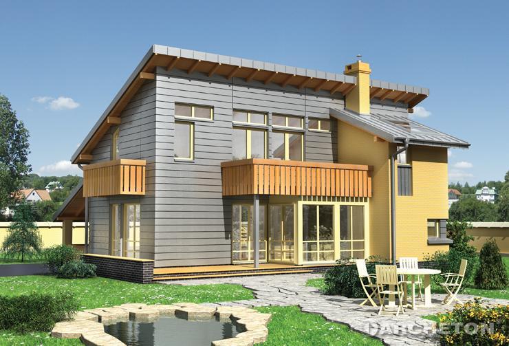 Projekt domu Kurt - nowoczesny dom pokryty dachem z blachy cynkowo-tytanowej