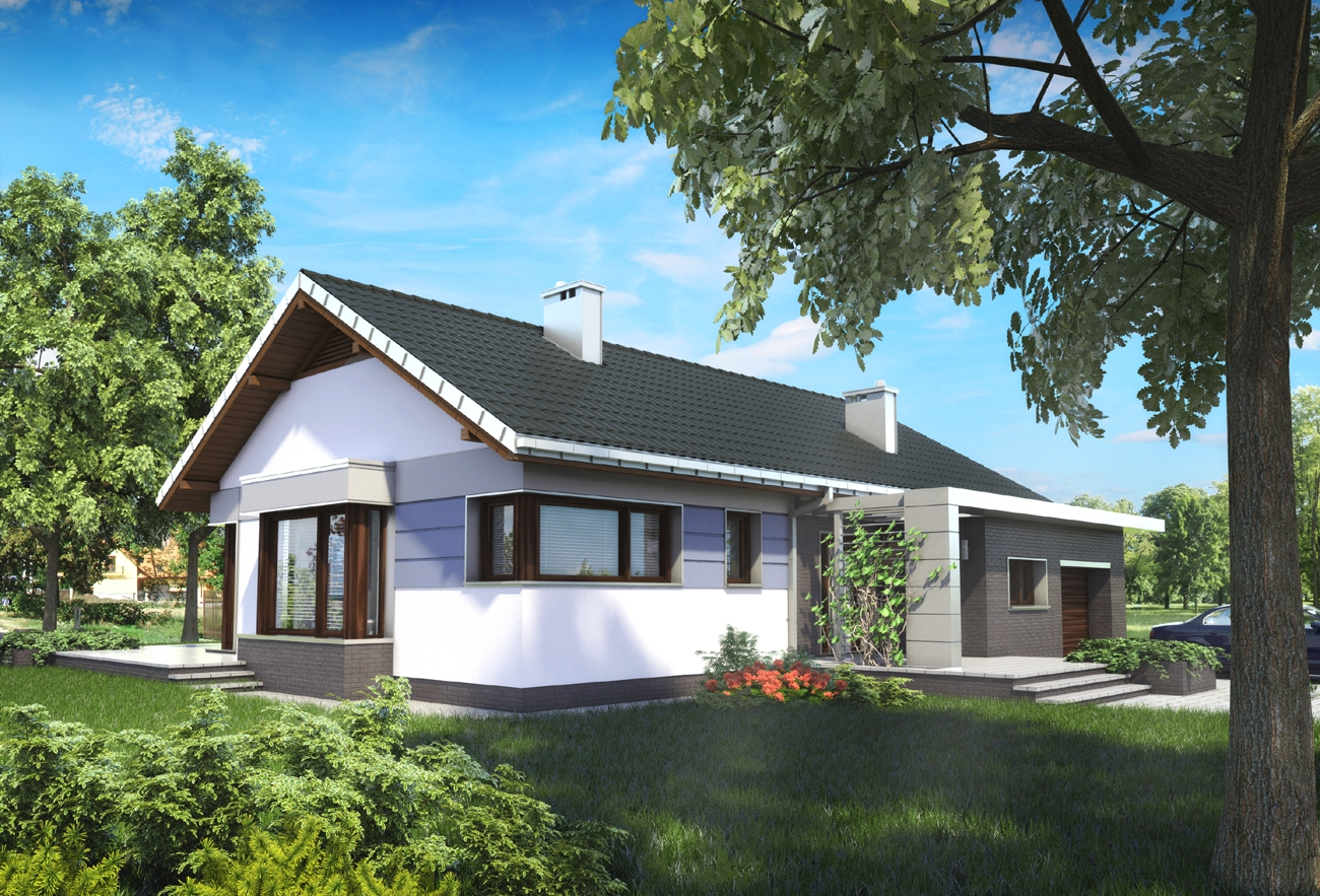 Gotowe Projekty Domów W Kształcie Litery L Archetonpl
