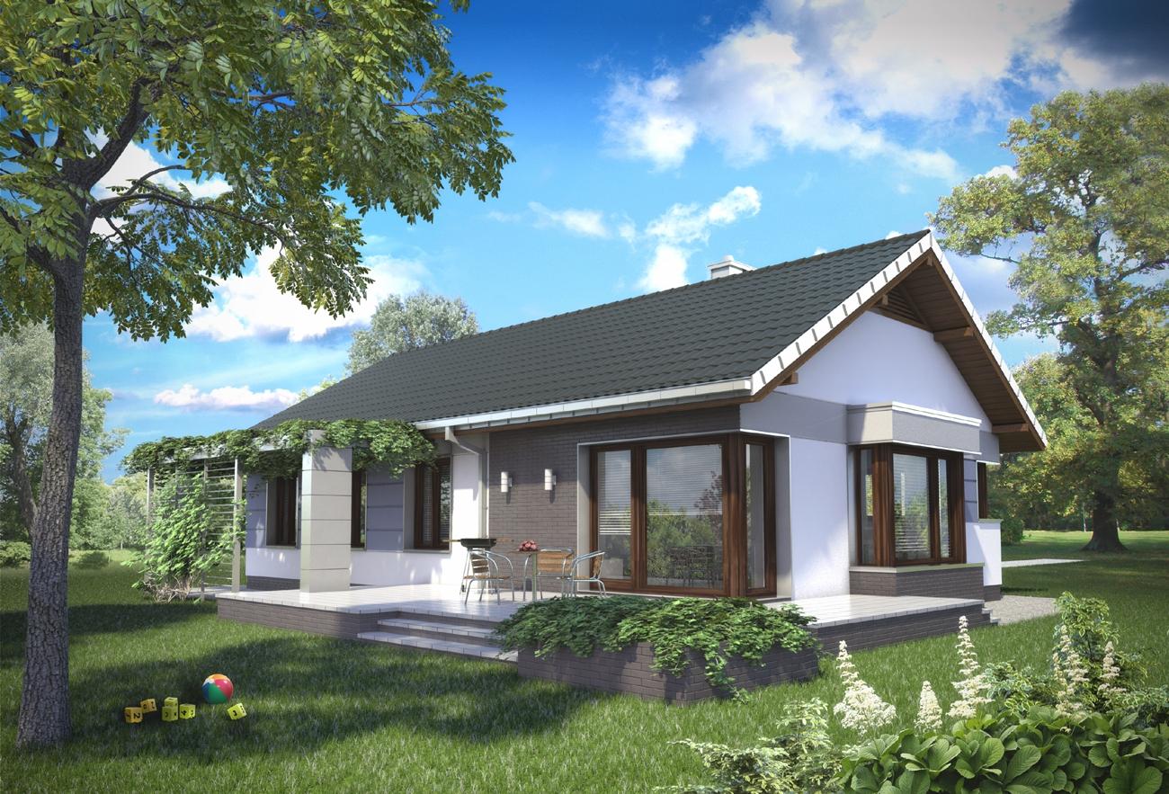 Projekt Domu Lambert Funkcjonalny Dom Parterowy Z Dużą Kotłownią