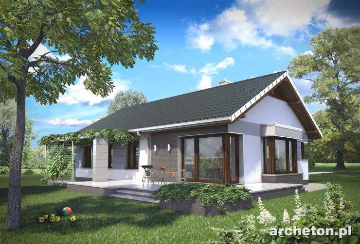 Projekt domu Lambert - funkcjonalny dom parterowy, z dużą kotłownią i garażem