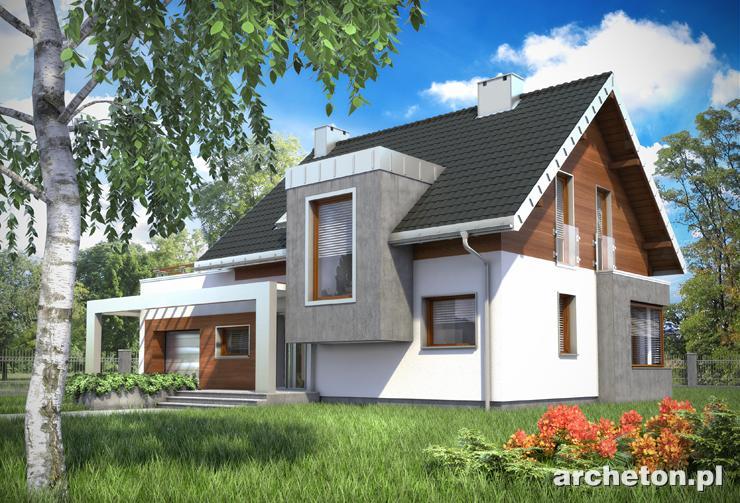 Projekt domu Lara - nowoczesny dom z przepięknym wykuszem od strony frontu