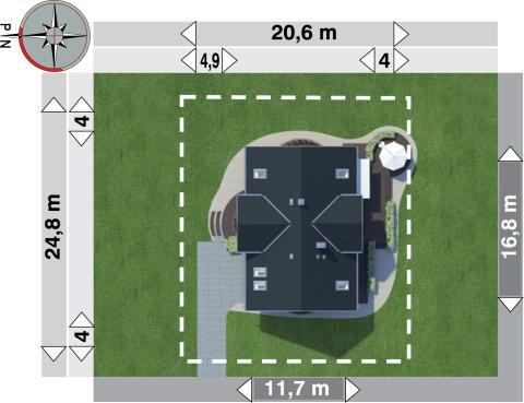 Projekt domu Lazuryt