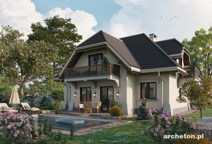 Projekt domu Leda - dom z obszerną kuchnią oraz jadalnią na parterze
