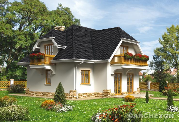 Projekt domu Leda - dom z trzema pokojami, łazienką oraz w.c. na poddaszu