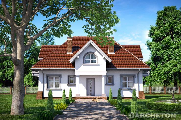 Projekt domu Leda Rex - dom z użytkowym poddaszem, z 2 pomieszczeniami gospodarczymi w piwnicy