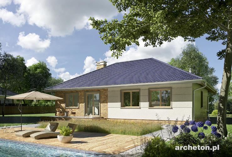 Projekt domu Lena - przytulny dom parterowy na planie prostokąta