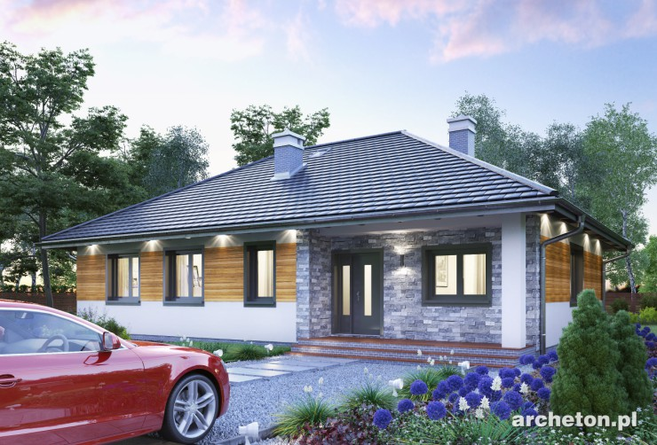 Projekt domu Lena Eko - dom parterowy, pokryty dachem czterospadowym