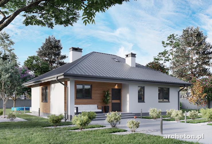 Projekt domu Lena Bobo - nieduży dom parterowy pokryty dachem czterospadowym