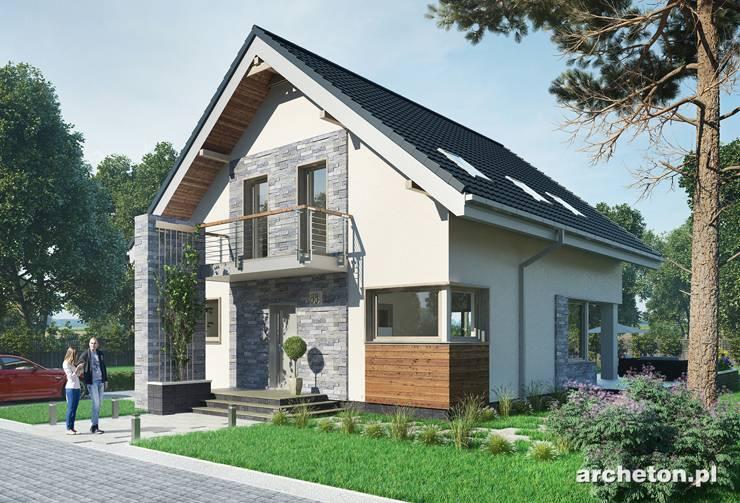 Projekt domu Leon - dom z 4 sypialniami i łazienką na poddaszu