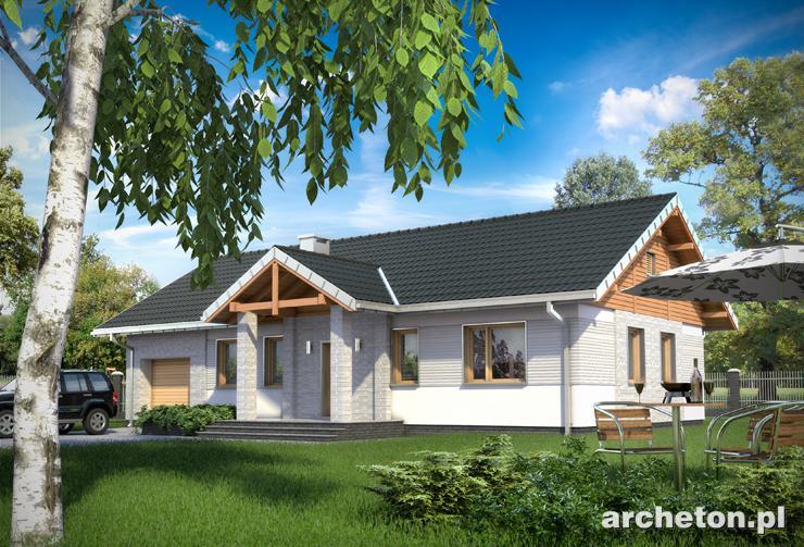 Projekt domu Lilak - dom z podziałem funkcji na strefę nocną oraz dzienną