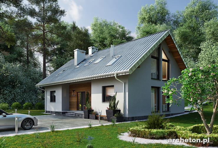Projekt domu Linda - nowoczesny dom z dużą ilością przeszkleń