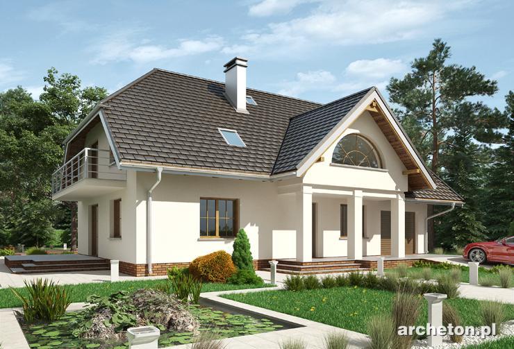 Projekt domu Lipczyk - dom z garażem i kotłownią w części gospodarczej