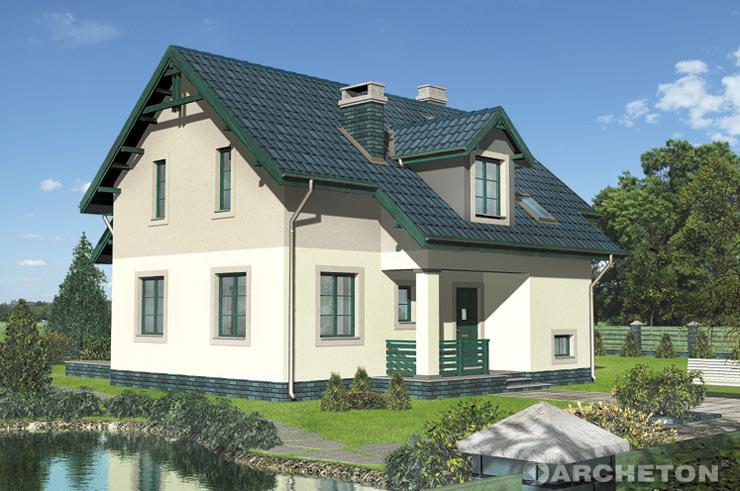 Projekt domu Longin - dom z kotłownią w podpiwniczeniu