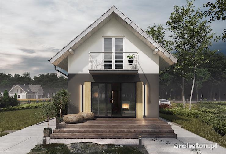 Projekt domu Longinus - mały domek na bardzo wąską działkę