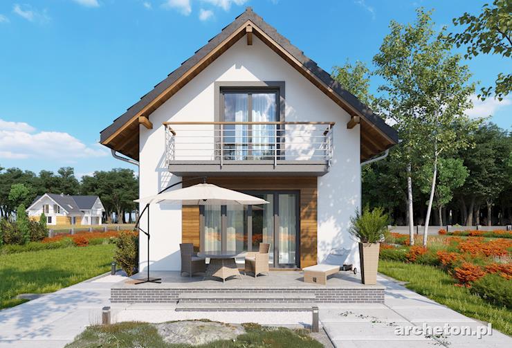 Projekt domu Longinus Sto - dom idealny na wąską działkę z dużym tarasem - przemyślany rozkład pomieszczeń
