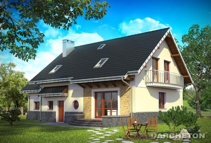Projekt domu Loreta Polo - idealny dom dla 5 osobowej rodziny, ze strychem nad garażem