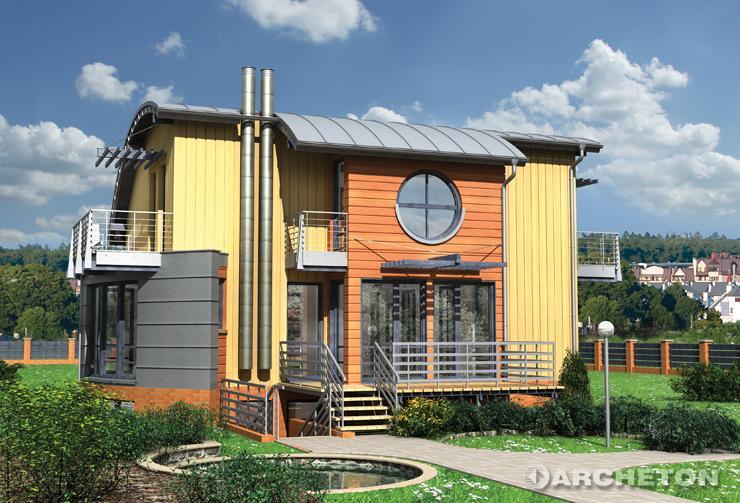 Projekt domu Lotta - ciekawy i nowoczesny dom, całkowicie podpiwniczony