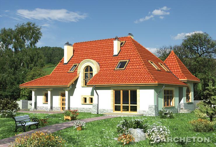Projekt domu Lubicz - stylowy dom z garażem dwustanowiskowym