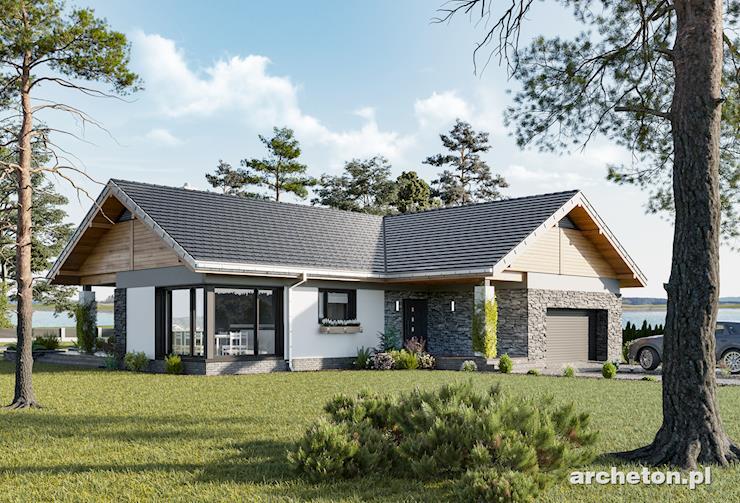 Projekt domu Lukas Alter - przestronny dom parterowy na planie litery T
