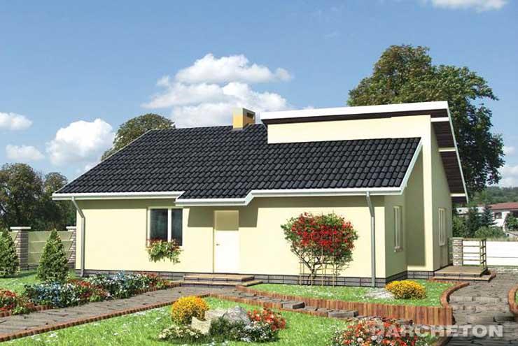 Projekt domu Łupina - dom z kotłownią i pomieszczeniem gospodarczym w piwnicy