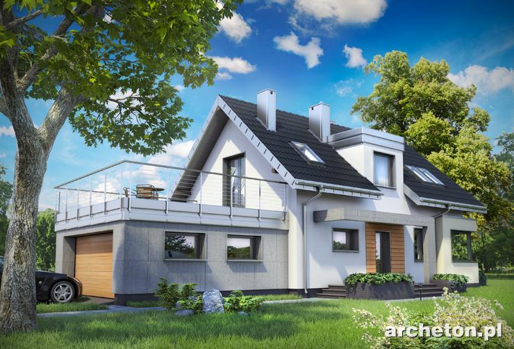 Projekt domu Lutek - dom na krótką działkę, o ciekawej bryle i nowoczesnych detalach