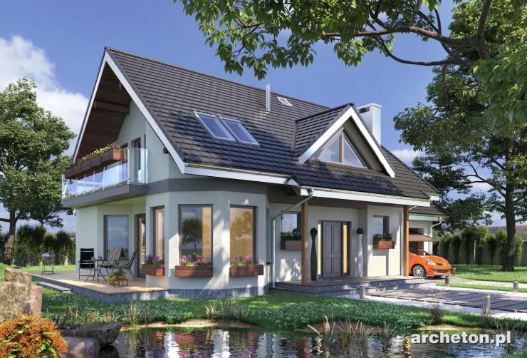 Projekt domu Maja - prosty energooszczędny dom na planie prostokąta